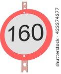 traffic sign speed limit 160 | Shutterstock .eps vector #423374377