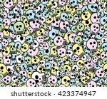 multicolor seamless skulls...