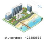 build your own isometric city.... | Shutterstock .eps vector #423380593
