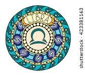 Zodiac Signs Theme. Mandala...