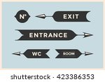 set of vintage arrows and... | Shutterstock . vector #423386353