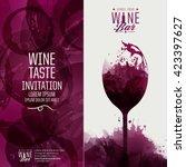 design template background wine ... | Shutterstock .eps vector #423397627