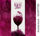 design template background wine ... | Shutterstock .eps vector #423397783