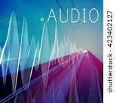 Small photo of Audio Listening Noise Sound Wave Technology Concept