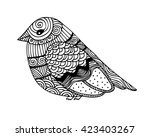 adult coloring book page design ... | Shutterstock . vector #423403267