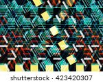 colorful mosaic illustration... | Shutterstock . vector #423420307