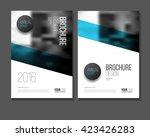 blue vector business brochure...   Shutterstock .eps vector #423426283