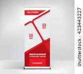banner roll up design  business ... | Shutterstock .eps vector #423443227