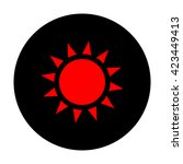sun sign. red icon