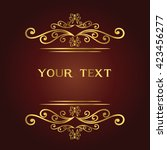 vector vintage border frame...   Shutterstock .eps vector #423456277