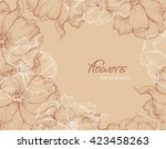 hand drawn floral background  | Shutterstock .eps vector #423458263