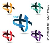 angle 360 degrees sign icon ... | Shutterstock .eps vector #423459637