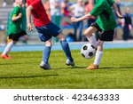 young soccer football players... | Shutterstock . vector #423463333
