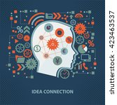 idea connection concept design... | Shutterstock .eps vector #423463537