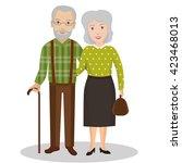 couple of older people.... | Shutterstock .eps vector #423468013