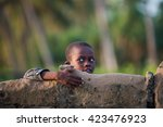 editorial use. children in... | Shutterstock . vector #423476923