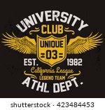 college california typography ... | Shutterstock .eps vector #423484453