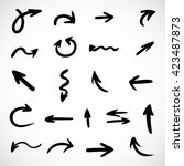 hand drawn arrows  vector set  | Shutterstock .eps vector #423487873