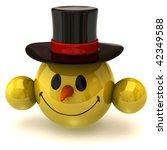 smiley snowman | Shutterstock . vector #42349588