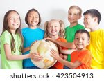 group of international kids...