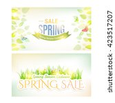 spring seasons sale website... | Shutterstock .eps vector #423517207