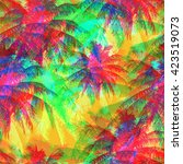 tropical pattern depicting... | Shutterstock .eps vector #423519073