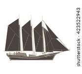 old ship. sailboat. pirate ship.... | Shutterstock .eps vector #423522943