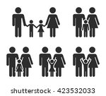 family icons | Shutterstock .eps vector #423532033