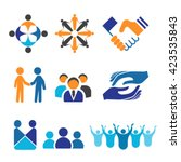 vector icon set for unity ... | Shutterstock .eps vector #423535843