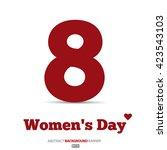 8 march  international women's... | Shutterstock .eps vector #423543103