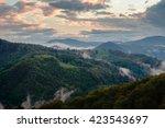evening in carpathian mountains   Shutterstock . vector #423543697