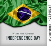 celebrating brazil independence ... | Shutterstock . vector #423545167