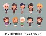 business people vector set | Shutterstock .eps vector #423570877