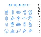 set of line icons with fast... | Shutterstock .eps vector #423590923