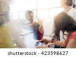 unposed group of creative... | Shutterstock . vector #423598627