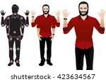 good for animation. man... | Shutterstock .eps vector #423634567