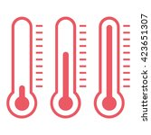 thermometer icon. | Shutterstock .eps vector #423651307
