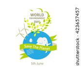 world environment day concept.... | Shutterstock .eps vector #423657457