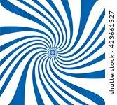 blue white spiral vector... | Shutterstock .eps vector #423661327