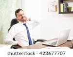 portrait of a young lawyer with ...   Shutterstock . vector #423677707