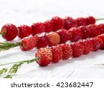 Wild Strawberries On Bent