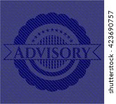 advisory badge with denim... | Shutterstock .eps vector #423690757