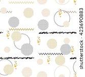 memphis geometric pattern... | Shutterstock .eps vector #423690883