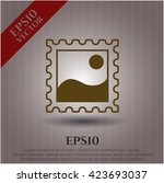 picture icon vector symbol flat ... | Shutterstock .eps vector #423693037
