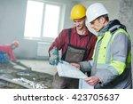 foreman builder and... | Shutterstock . vector #423705637