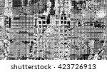 halftone dots pattern .... | Shutterstock . vector #423726913