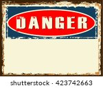 danger sign  vector | Shutterstock .eps vector #423742663