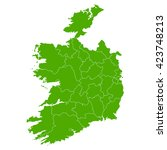 ireland map country icon | Shutterstock . vector #423748213