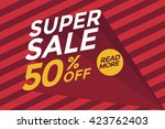super sale banner.vector... | Shutterstock .eps vector #423762403
