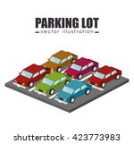 parking lot design  | Shutterstock .eps vector #423773983